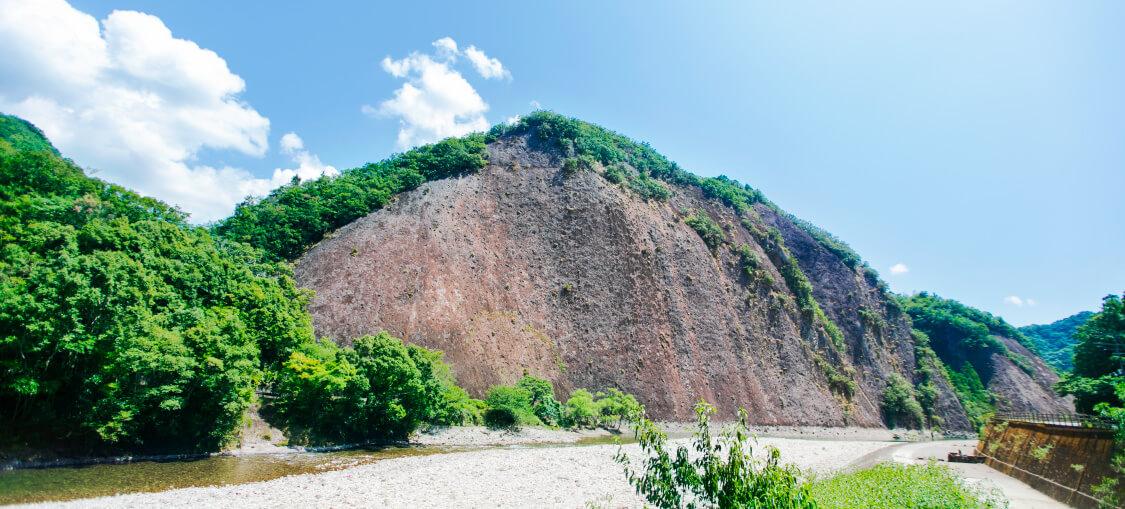 一枚岩ルート目的地