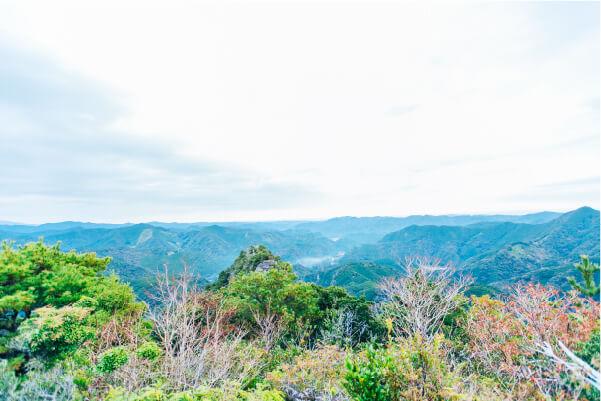 雄嶽頂上からの景色の画像