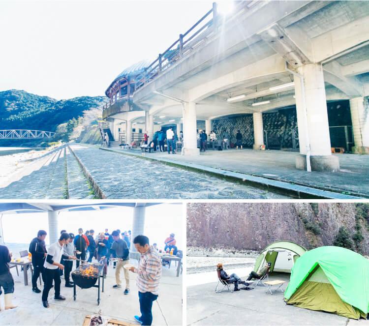 道の駅一枚岩モノリスのキャンプとバーベキューの画像
