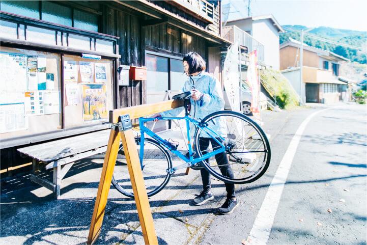 スマホ用七川ふるさとづくり協議会夏目商店レンタサイクルの画像