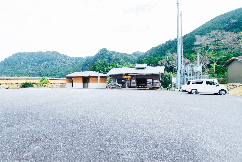 明神の潜水橋の路上駐車について画像