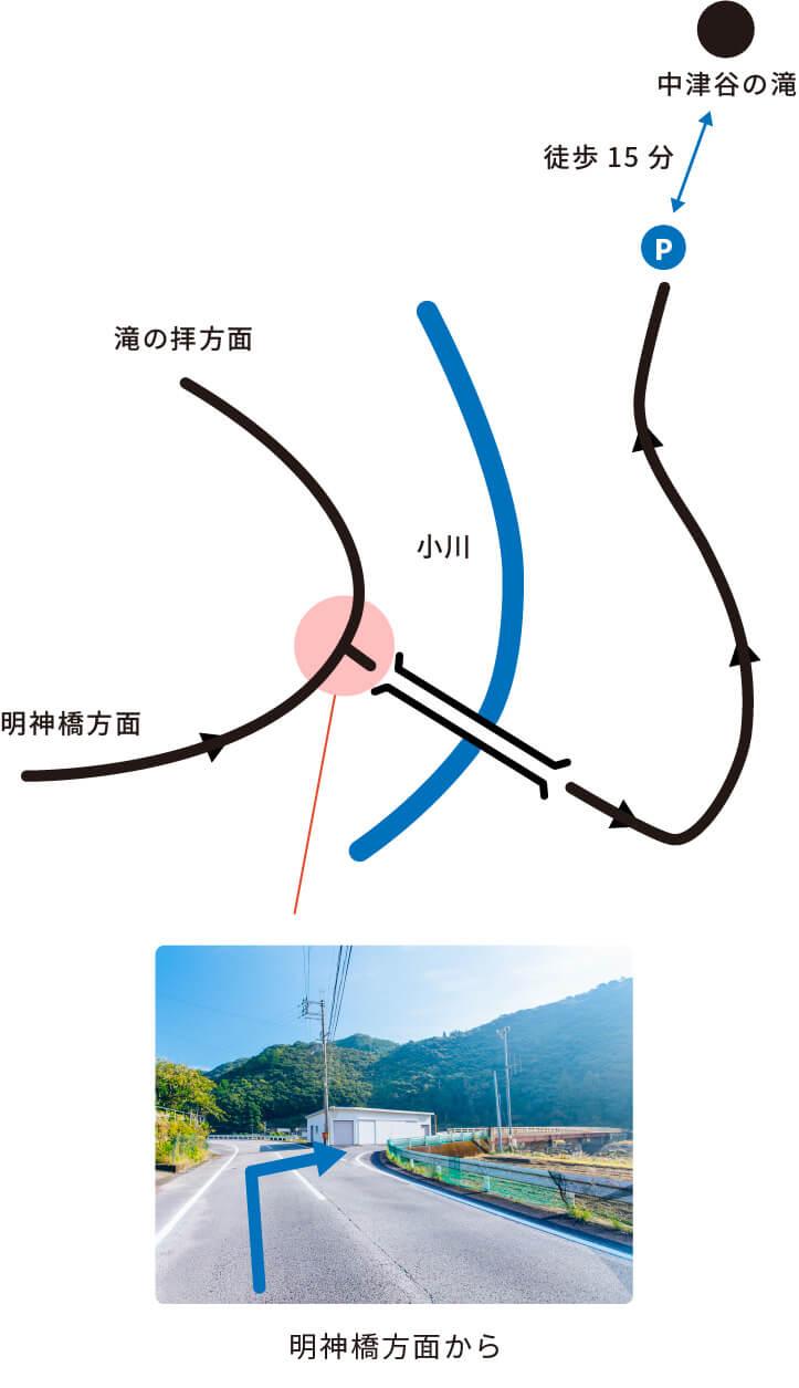 スマホ用中津谷の滝の画像